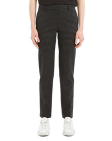 Theory Knit Twill Houndstooth Trouser Pants