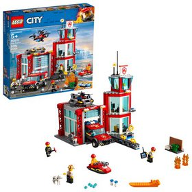 LEGO City Fire Station 60215 Building Set with Eme