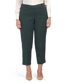 TAHARI BY ASL Plus Double Weave Ankle Pants