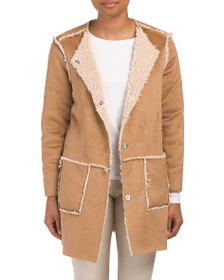 BB DAKOTA Juniors Reversible Faux Shearling Jacket