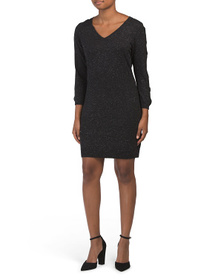 NICOLE MILLER Sweater Dress With Cage Sleeves