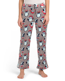 JAMMIES Wintertime Owls Fleece Lounge Pants