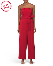 EVERNEW Strapless Crepe Jumpsuit