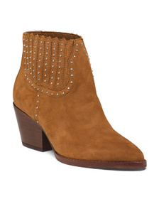 DOLCE VITA Studded Suede Booties