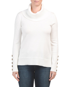 CABLE & GAUGE Cowl Neck High Low Pullover Sweater