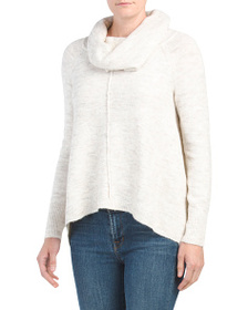 IF IT WERE ME Juniors Recovery Cowl Sweater With P