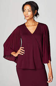 Wearever Pleated-Sleeve Top