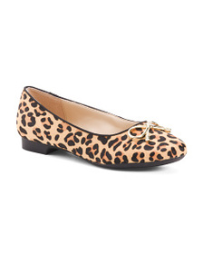 reveal designer Haircalf Animal Ballet Flats