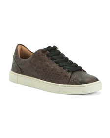 FRYE Leather Low Lace Sneakers