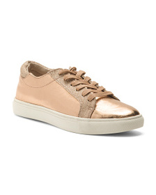 reveal designer Metallic Sneakers