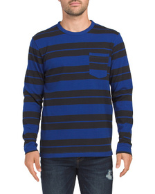 FRENCH CONNECTION Varsity Fran Stripe Long Sleeve