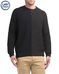 FRENCH CONNECTION Multi Textured Wool Blend Sweate