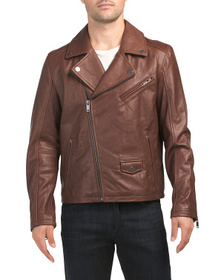 Reveal Designer Vaughn Leather Moto Jacket
