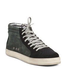 P448 Men's Made In Italy Suede And Leather Hightop