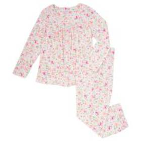 Aria Long Sleeve Floral Square Neck Button Front P