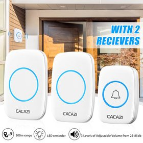 CACAZI Home Wireless Doorbell Security Kit with 1