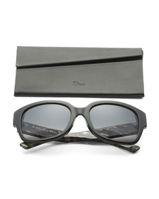 DIOR Made In Italy 56mm Rectangle Designer Sunglas