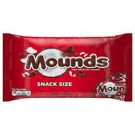 Mounds Snack Size Candy Bars Dark Chocolate Coconu