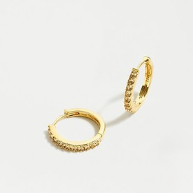 J. Crew Small pavé huggie hoop earrings