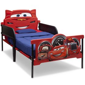 Disney/Pixar Cars Plastic 3D-Footboard Twin Bed by