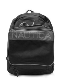 Nautica Kids Black Brights Backpack with lunch bag