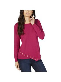 NY Collection Womens Petites Grommet Trim Asymmetr