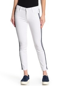 MOTHER The Looker Stripe Ankle Skinny Jeans