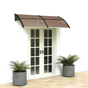 "Zimtown 80""X40"" Window Awning Outdoor Polycarbonat"