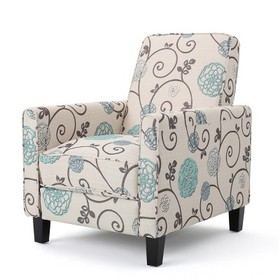 Darvis Fabric Recliner White - Christopher Knight