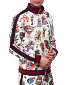 Ed Hardy print camp jacket