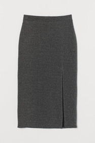 Jersey Skirt with Slit