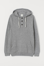Hoodie with Buttons
