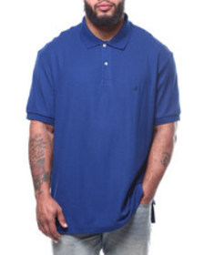Nautica s/s anchor solid deck polo (b&t)