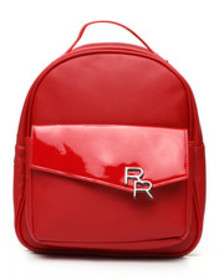Rampage saffiano patent backpack