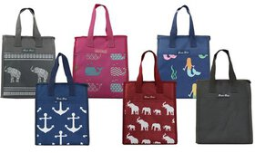 Patterned PEVA-Insulated Lunch Bag