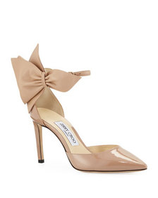 Jimmy Choo Kathrine Patent Pumps with Bow, Pink