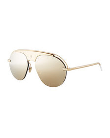 Dior Dio(R)evolution Mirrored Aviator Sunglasses