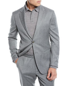 Z Zegna Men's Wash-and-Go Flannel Two-Piece Suit