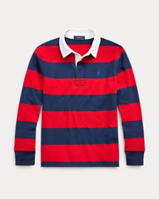 Boys 8-20 Striped Cotton Rugby Shirt