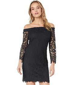 Bebe Off-the-Shoulder Chemical Lace Dress