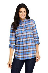 Lands End Women's Flannel Tunic Top
