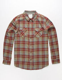 BIRCH BLACK Spartan Mens Flannel Shirt_