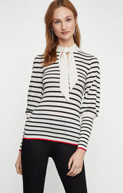 BCBG Collared Bow Sweater