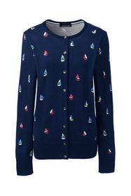 Lands End Women's Supima Cotton Long Sleeve Cardig