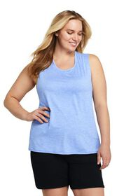 Lands End Women's Plus Size Active Tank Top