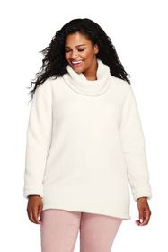 Lands End Women's Plus Size Cozy Sherpa Fleece Pul