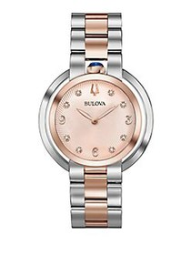 Bulova Rubaiyat Two-Tone Bracelet Watch TWO TONE