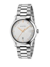 Gucci G-Timeless Stainless Steel Watch SILVER