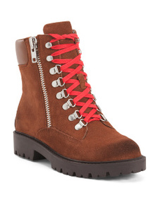 CHARLES BY CHARLES DAVID Lug Sole Suede Combat Boo
