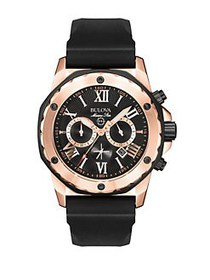 Bulova Men's Marine Star Chronograph Rose Gold Sil